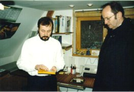 Landesbischof Hoffmann und Jörg Sorge