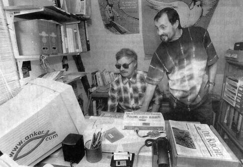 Günter Wild und Jörg Sorge im KOM-IN-Büro