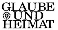 Logo Glaube und Heimat