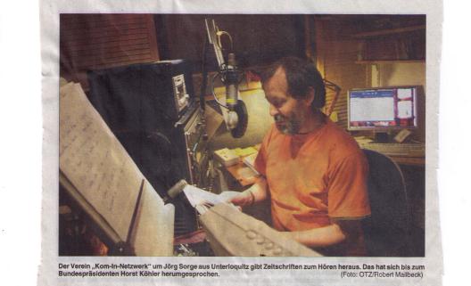 Jörg Sorge im Studio