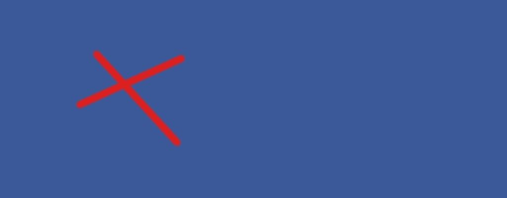 Ein rotes Kreuz auf blauem Untergrund